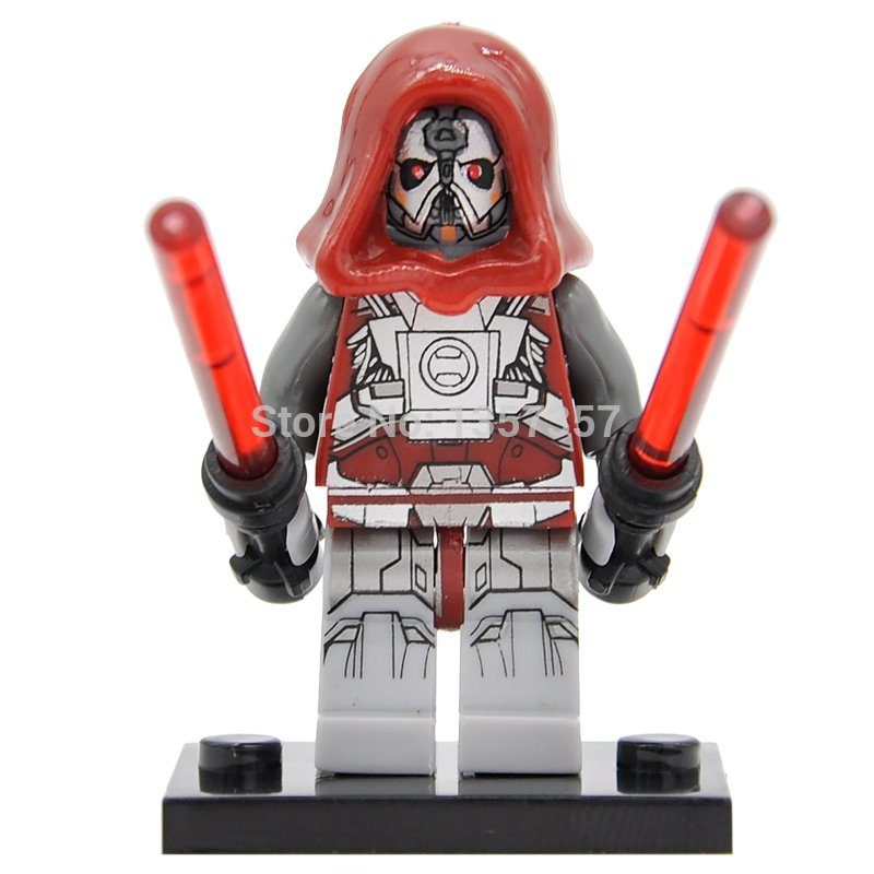 Star Wars Lego Sith Warrior Minifigure Compatible Toy