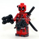 Deadpool with 2 weapon Marvel minifigure Lego Compatible Toy