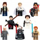 Star Wars Lego Minifigure Han Solo Palpatine Obi-Wan Compatible toys