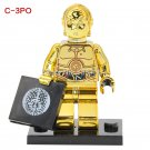 Lego Minifigures C-3PO Chrom Golden Star wars Compatible Toy