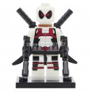 Lego Super Heroes White Deadpool Marvel Minifigures Compatible Toy