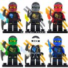 Ninja Super Heroes Zane/Cole/Nya/Lloyd Minifigures Lego Compatible Toys