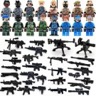 SWAT CSF Team Leader Counter-terrorism Lego Military  Minifigure Compatible Toy