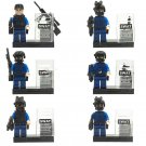 Lego City Police Officer SWAT military Minifigure Compatible Toy