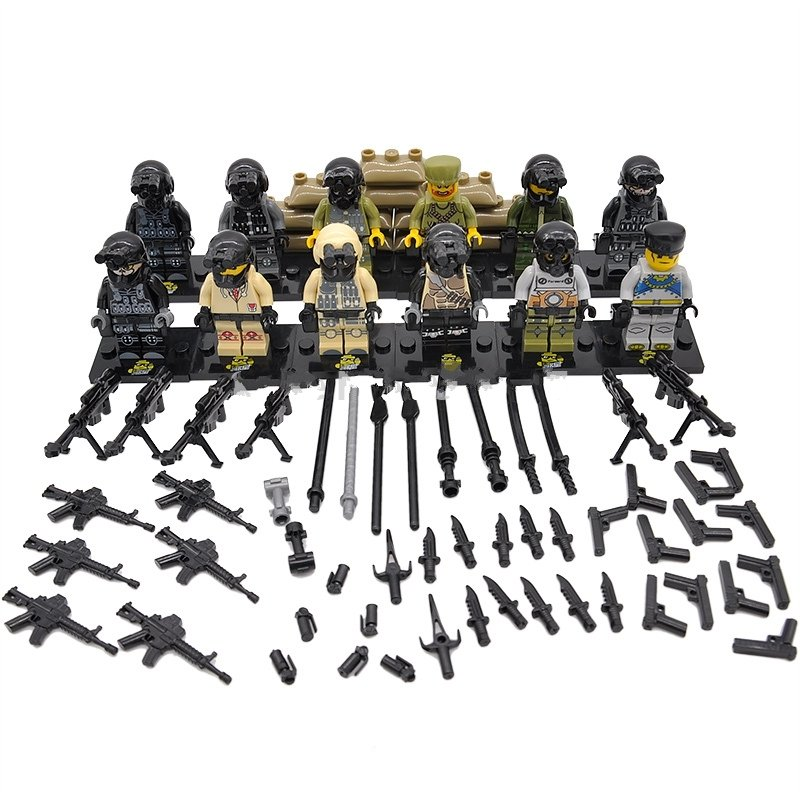 Ghost Terrorist soldiers military Lego Minifigure Compatible Toy