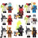 Phantom Ninja Golden Ninja Jay Kai Cole Minifigure Lego Compatible Toy