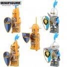 Golden Medieval Castle Light Armor Minifigure Lego Compatible Toy
