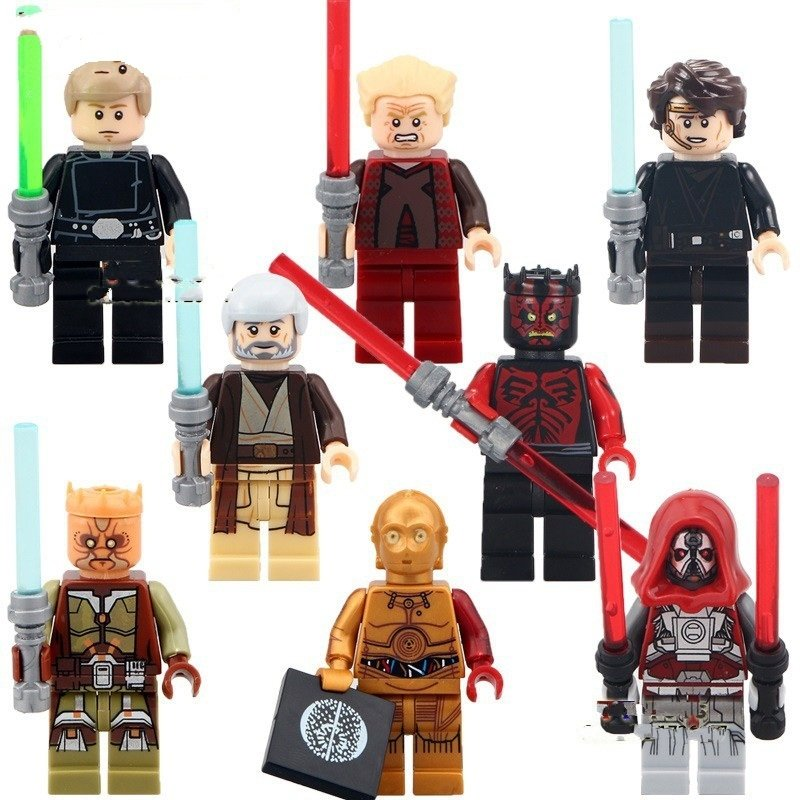 Star Wars Sith Warrior Darth Maul C3PO Lego Minifigure Compatible Toy