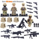 US Army with Weapons Compatible Lego World War 2 Minifigures