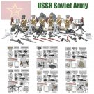 USSR Soviet Russian Army Figures World War 2 Lego Compatible Building Blocks
