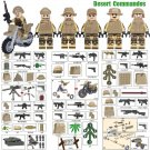 Desert Commandos Army Figures Compatible World War 2 II Building Blocks Lego