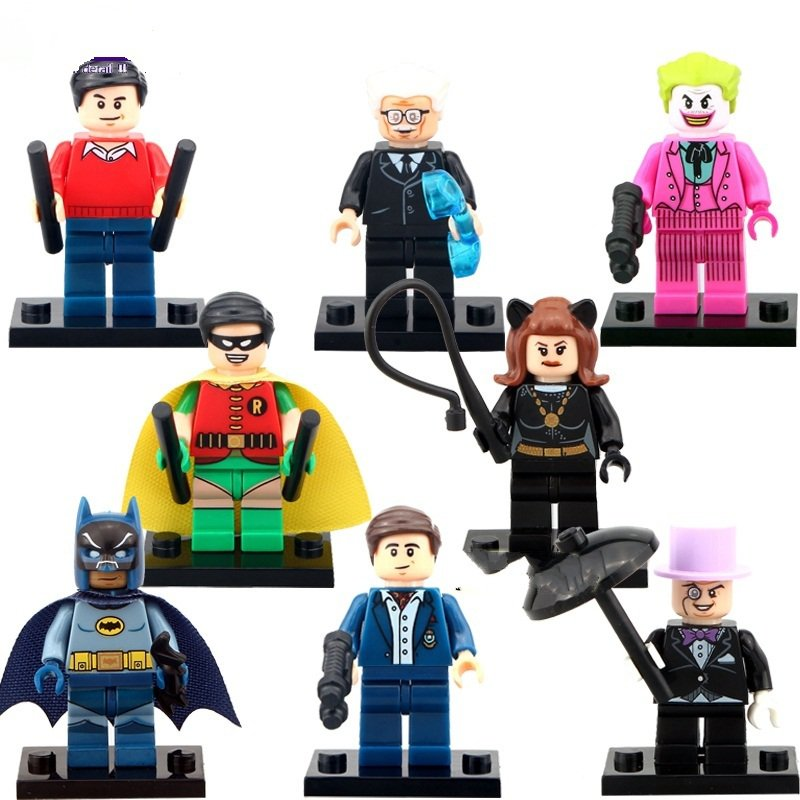 DC Super Heroes Lego Minifigures Batman Joker Compatible Toy