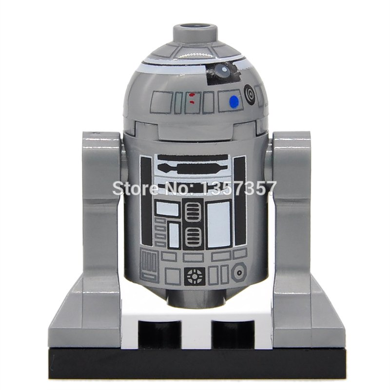 Silver R2-D2 Lego Star wars 7 Minifigure Compatible Toy