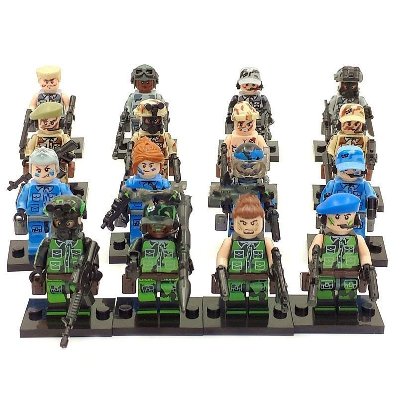 Anti-terrorism leader military  Lego minifigure Compatible Toy