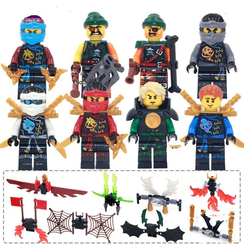 Super Heroes Phantom Ninja Zane Wu Kai Minifigure Compatible Toys Lego