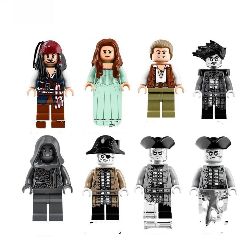 Pirates of the Caribbean set davy jones minifigure Lego Compatible Toy