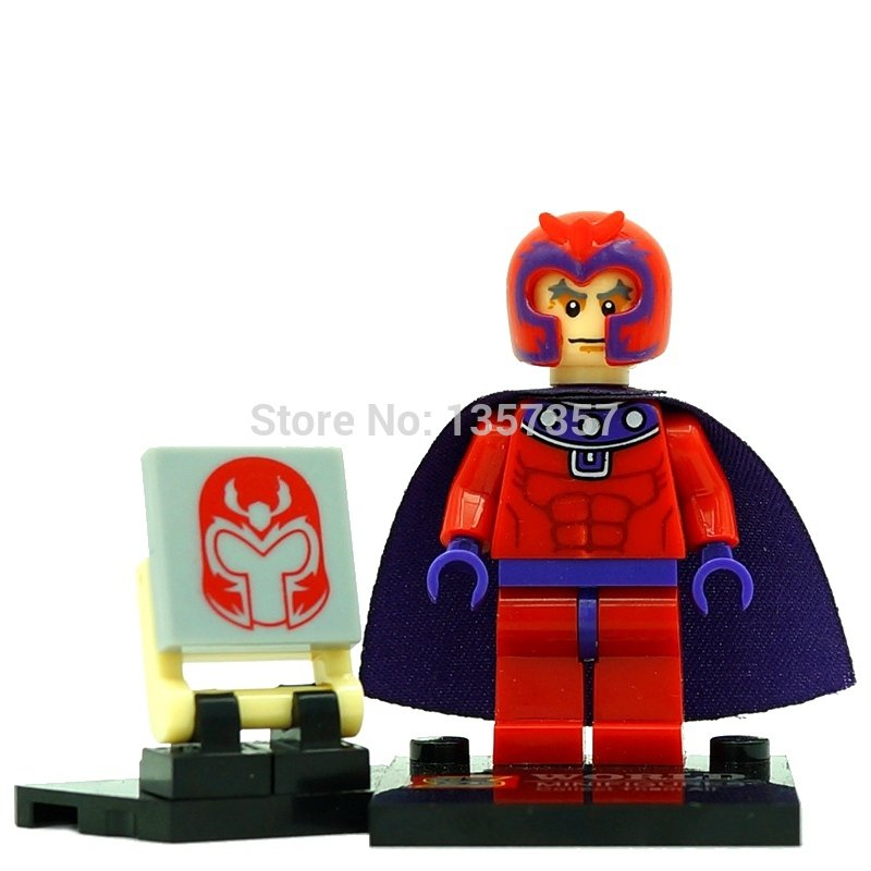 Marvel Magneto Red Lego Minifigures Compatible Toy