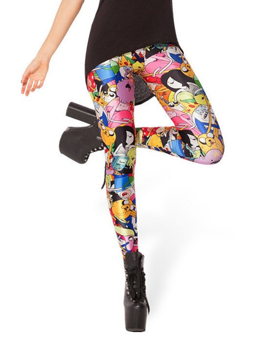 Adventure Time Stretchy Pants Workout Spandex Leggings Yoga Tights for Her Gifts