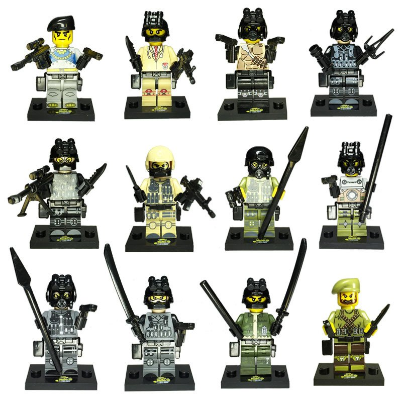 Ghost Commando assault military SWAT Lego Minifigure Compatible Toy