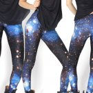 Blue Galaxy Space Elastic Yoga Leggings Women Pants Fashion Tights for Gifts