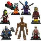 Guardians of the Galaxy and Big Groot Lego Minifigure Compatible Toy