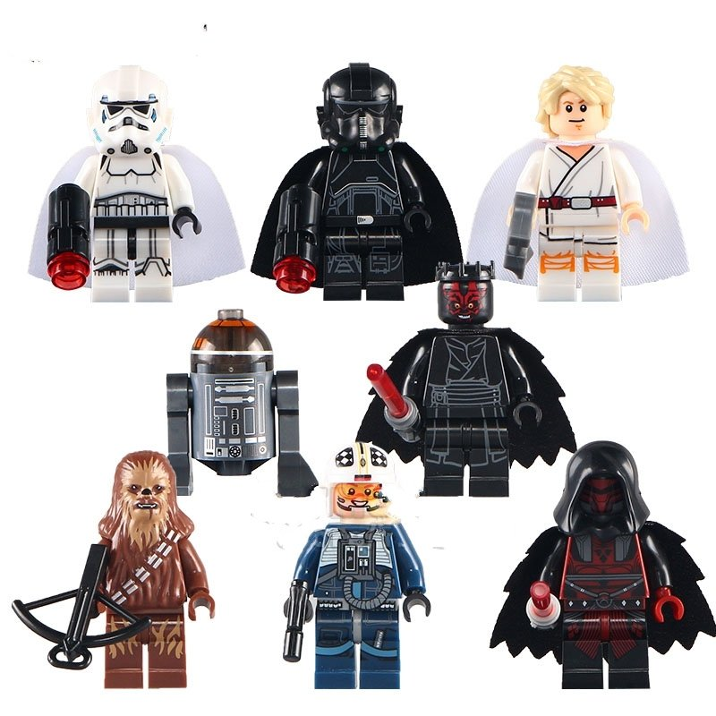 Star Wars set Darth Maul Chewbacca Minifigure Lego Compatible Toys