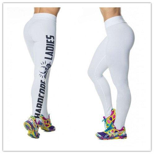 Punk Skull Digital Printed Hardcore Women Exercise Sports Legz White Rock Pants