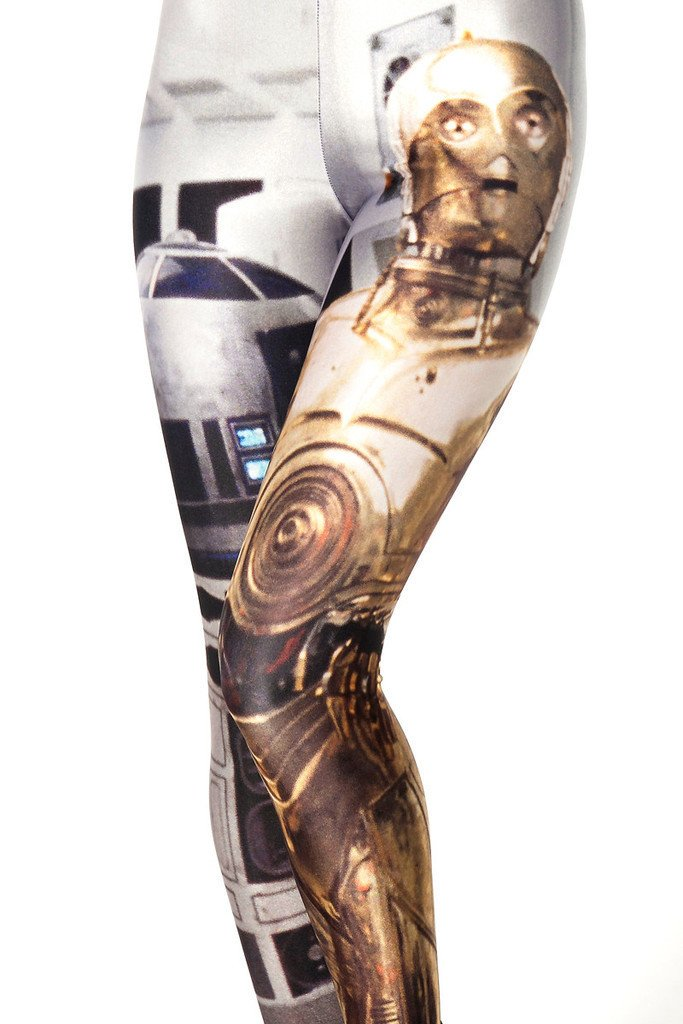 Yoga Leggings Robert Fitness Sports Gym Pants Spandex Star War R2D2
