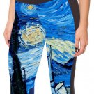 Starry Night Woman Sexy Starry Sky Stretch Yoga Cropped Leggings