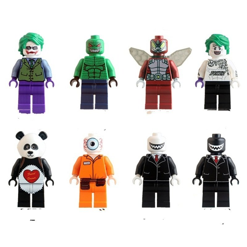 Joker Killer Croc with Tommy Gun Lego Minifigure Compatible Toy