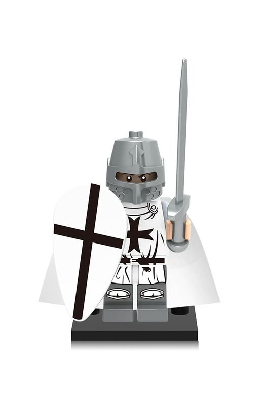 Clash of the Titans Crusader Commander Medieval Knights minifigure Lego Compatible Toy