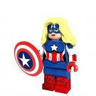 Super Hero Female Captain America Marvel minifigure Lego Compatible Toy