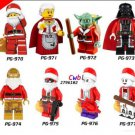Star Wars Christmas Granny Santa Claus Master Yoda Darth Vader Deadpool Joker  Lego Compatible toys