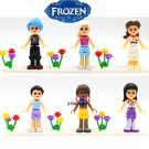Friends Frozen Series Princess Anna Elsa building blocks action figure model bricks toys