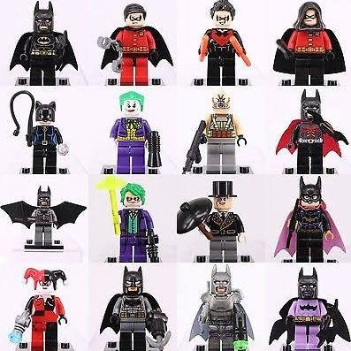 Batman Movie Robin Joker Minifigures Custom Super Hero DC Universe Lego Compatible Toys