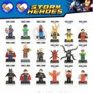 Super Heroes DC Marvel Winter soldier/Batman/Venom/Cyclops Lego Compatible Minifigures Toys-18pcs