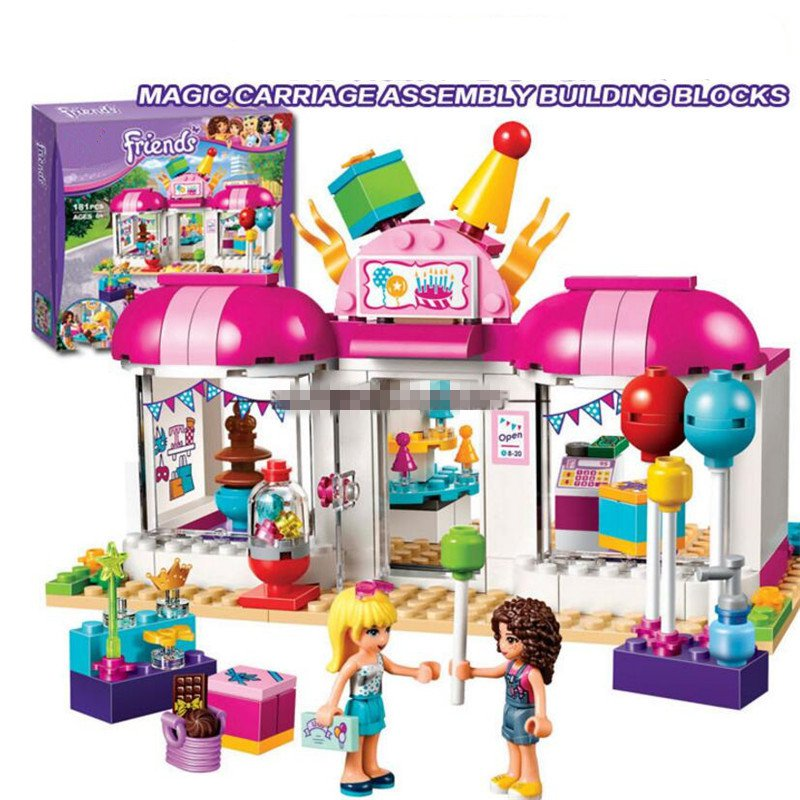Girls friends amusement 41124 park games Model Building blocks Bricks Compatible Toys