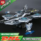 Marvel Super Heroes SHIELD Helicarrier 76042 Building Bricks Toy Gift for Kids DHL Shipping