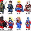Deadpool Cyclops Hyperion Red Light Batman Female captain America Minifigures Lego Compatible
