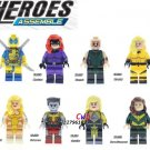 X-Man Colossus Crystal Hope Summers Karnak Dazzler Emma Frost Minifigures Lego Compatible Toys