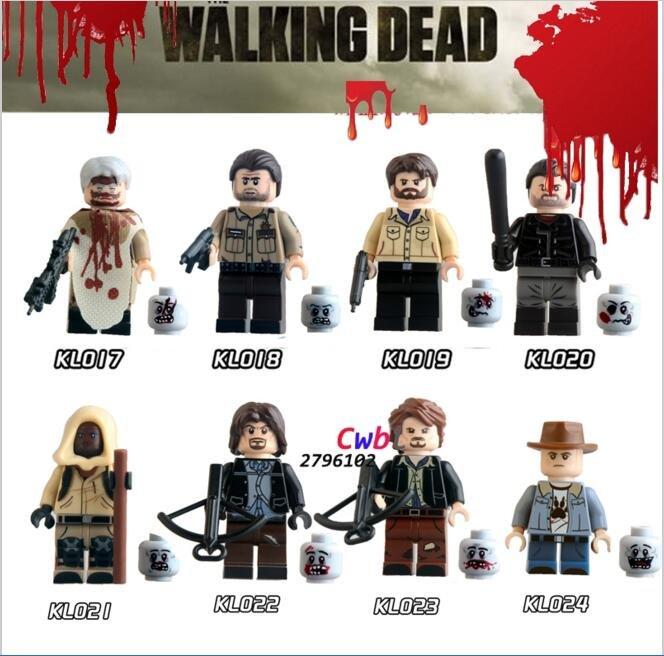 The Walking Dead Minifigures building blocks Lego Compatible toys