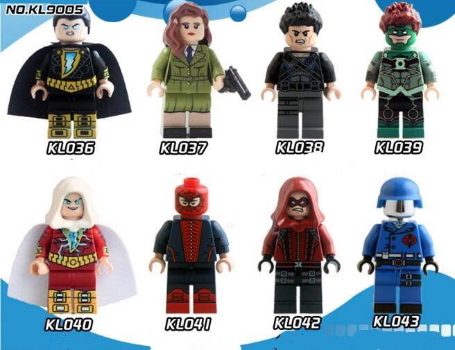 Colle Black Adam Carter Red Arrow Green Lantern Lego Minifigures Compatible Toys