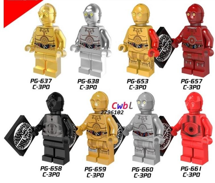 Star Wars C3PO C-3PO Gold Minifigures Lego Compatible  toys