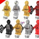Star Wars C3PO C-3PO Gold Minifigures Lego Compatible  toys
