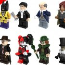 Harley Quinn Commissioner Barbara Gordon Riddler Bataman Penguin Minifigures Lego Compatible Toys