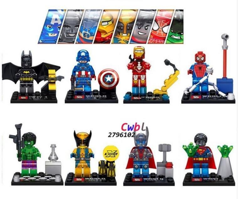 Crystal hulk batman spiderman lego minifigures compatible toy - Spiderman batman lego ...