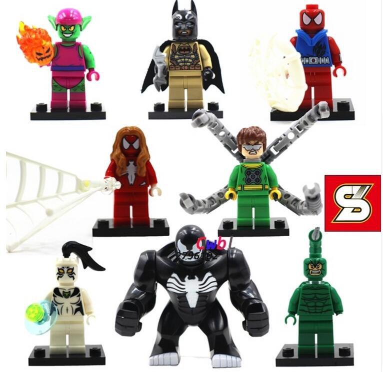 Superhero Comics Venom Doctor Octopus Spiderman Lego Minifigures Compatible Toys toys