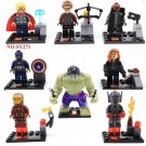 The Avengers 2 Movie Minifigures Captain America Thor Iron Man Hulk Lego Compatible Toys