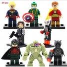 Superhero Civil War Hulk Black Panther Lego minifigures Compatible Toy