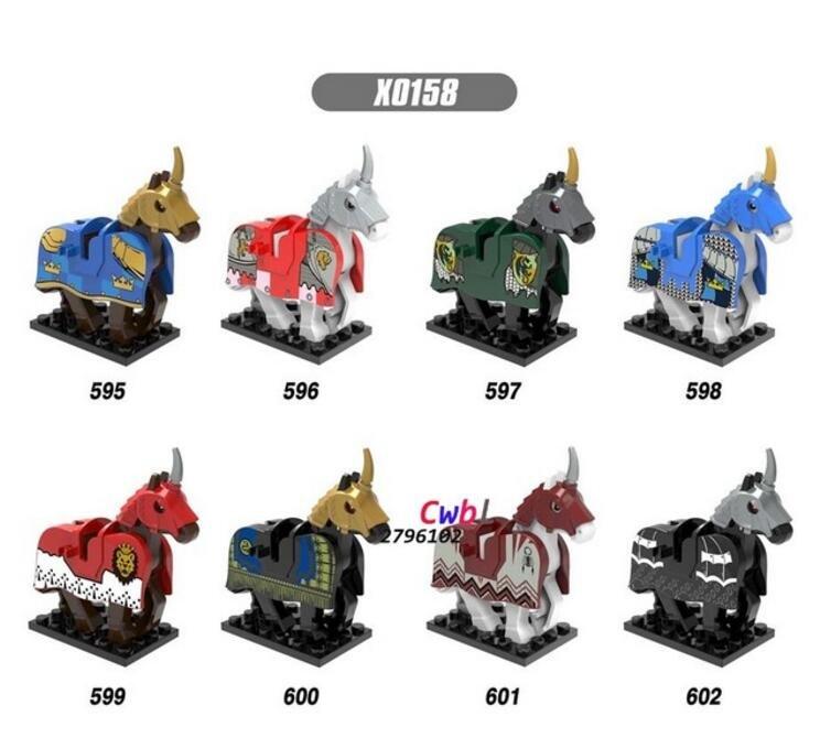 Rome Commander Medieval Knights Centurion Crusader Horse model Lego Compatible Toys